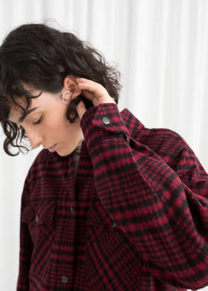 And other stories Wool Blend Plaid Overshirt