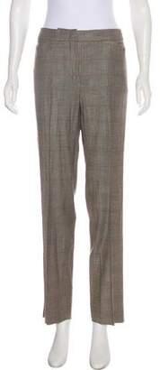 Armani Collezioni Virgin Wool-Blend Mid-Rise Pants