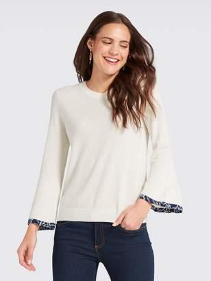 Draper James Trimmed Bell-Sleeve Sweater