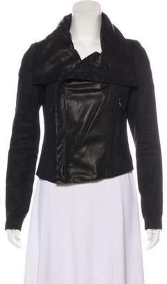 Vince Leather Long Sleeve Jacket