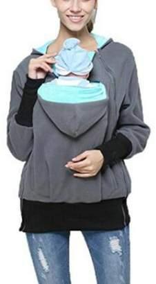 cd80344bf04 Ammon Lowen Women s Hoodie Coat Kangaroo Jacket Maternity Sweatshirt for  Baby Wearing Carrier