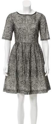 Peter Som Embroidered Mini Dress