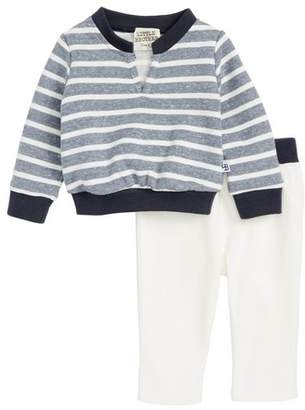Little Brother by Pippa & Julie Stripe Sweatshirt & Denim Pants