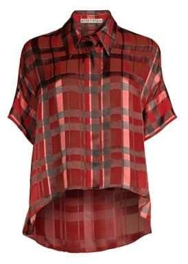 Alice + Olivia Edyth High-Low Button Up Shirt