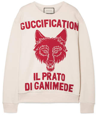 Gucci Oversized Printed Cotton-terry Sweatshirt