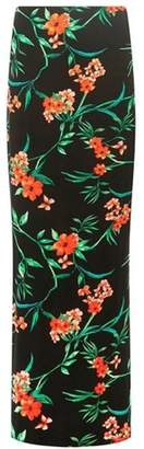 Dorothy Perkins Womens **Tall Black Tammy Tropical Maxi Skirt