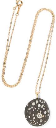 Cvc Stones Boop 18-karat Gold, Stone And Diamond Necklace
