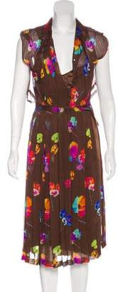 Marc Jacobs Belted Silk Dress