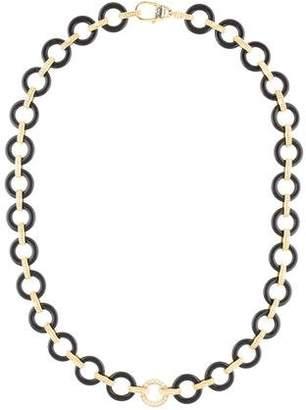 Lagos 18K Diamond & Onyx Chain Necklace