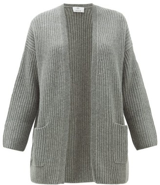 Allude Rib Knitted Cashmere Cardigan - Womens - Grey