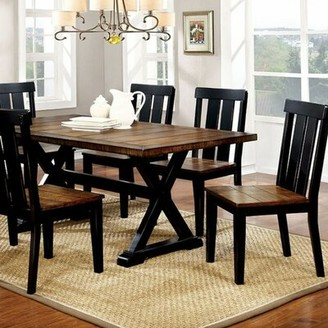 Millwood Pines Weiler Transitional Plank Dining Table Millwood Pines