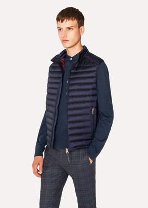Paul Smith Men's Navy Quilted Down Gilet