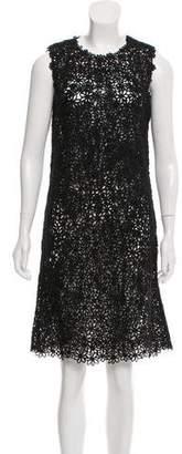 Oscar de la Renta Sequin Knee-Length Dress