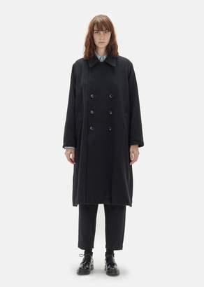 Chimala Unisex Wool Tweed Double Breast Coat Navy