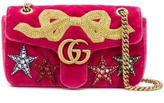 Gucci GG Marmont small velvet shoulder bag