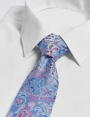 Marks and Spencer Pure Silk Oriental Floral Tie