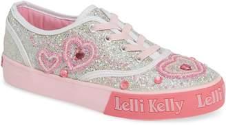 Lelli Kelly Kids Beaded Lace-Up Sneaker