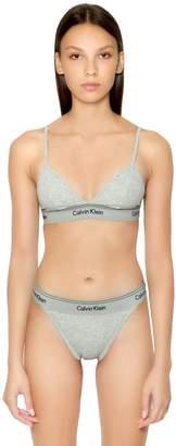Calvin Klein Underwear Unlined Cotton Triangle Bra