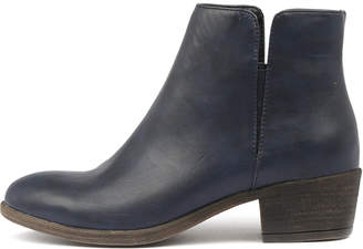 I Love Billy Alibis Navy Boots Womens Shoes Casual Ankle Boots