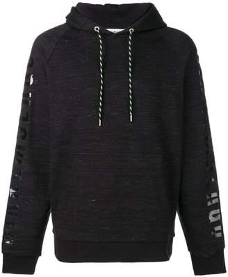Dirk Bikkembergs sleeve print hoodie