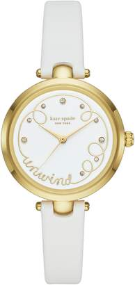 Kate Spade Holland Unwind Leather Strap Watch, 34mm