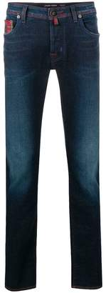 Jacob Cohen stitch detailed jeans