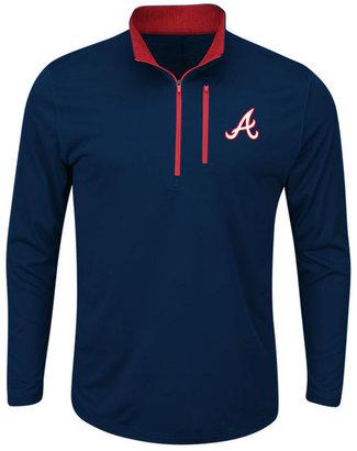 Majestic Men's Atlanta Braves Six-Four-Three Quarter-Zip Pullover $60 thestylecure.com