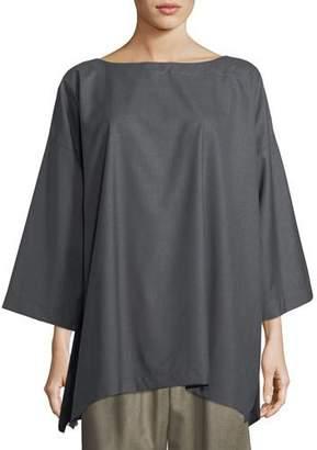 eskandar Slim A-Line 3/4-Sleeve Top