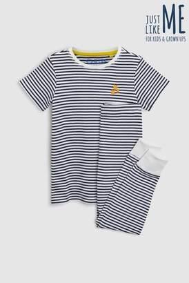 Next Boys Navy Stripe Older Kids Stripe Pyjamas (9mths-16yrs)