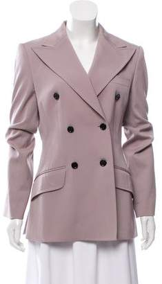 Dolce & Gabbana Double-Breasted Virgin Wool Blazer