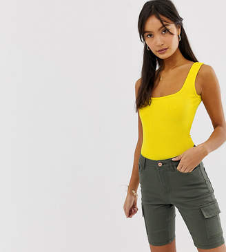New Look scoop back body in yellow