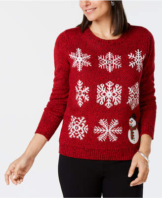 Karen Scott Snowflake Jacquard Holiday Sweater, Created for Macy's