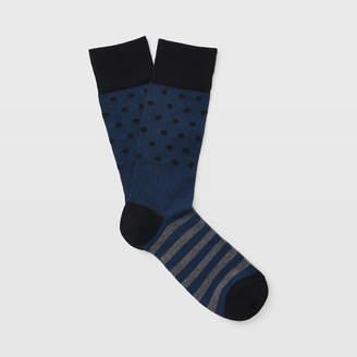 Club Monaco Dot Stripe Sock