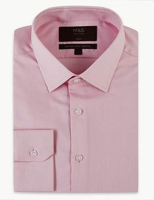 Marks and Spencer Cotton Rich Slim Fit Oxford Shirt