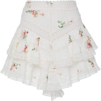 Zimmermann Heathers Pintuck Frill Short