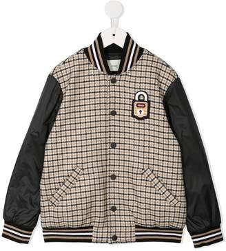 Fendi checked bomber jacket