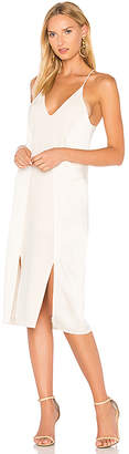 Halston V Neck Slip Dress With Back Cut Outs