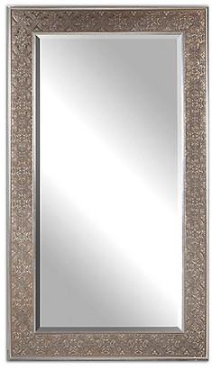 One Kings Lane Villata Floor Mirror - Antiqued Silver Leaf/Bronze