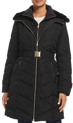 Cole Haan Faux Fur-Lined Hood Puffer Coat