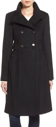 Petite Women's Eliza J Wool Blend Long Military Coat $228 thestylecure.com