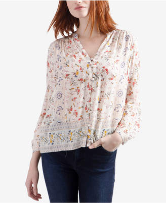 Lucky Brand Floral-Print Boho Blouse