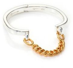 Giles & Brother Stirrup Two-Tone Chain Cuff Bracelet $155 thestylecure.com