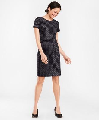 2b802d1221 Brooks Brothers Polka-Dot Striped Wool-Blend Dress