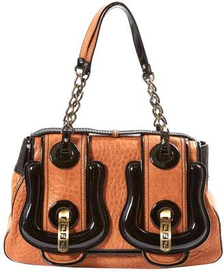 Fendi B Bag Camel Leather Handbag