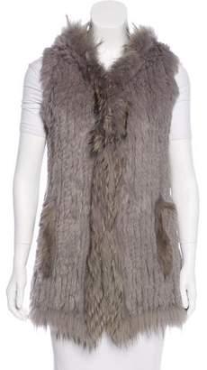 Love Token Fur Knit Vest