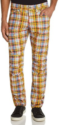 G-STAR RAW Elwood X25 Chennai Plaid New Tapered Fit Jeans by Pharrell Williams $170 thestylecure.com