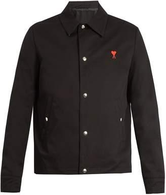 Ami Logo-embroidered denim jacket