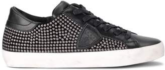 Philippe Model Paris Black Leather Sneaker With Studs