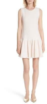 Rebecca Taylor Drop Waist Tweed Dress