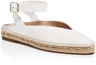 Stuart Weitzman Women's Toga Leather Espadrille Ankle Strap Flats